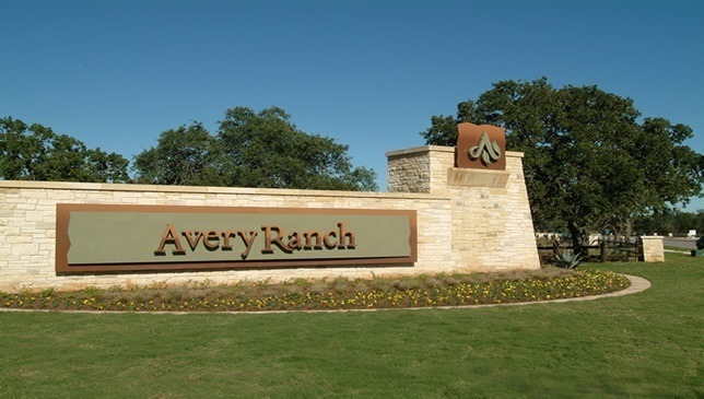 real estate Avery Ranch welcome sign